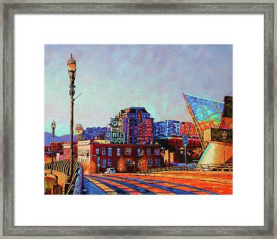 Morning Rush - The Corner Of Salem Avenue And Williamson Road In Roanoke Virginia Framed Print
