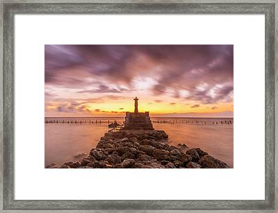 Framed Print featuring the photograph Morning Scene In Nusa Penida Beach by Pradeep Raja Prints