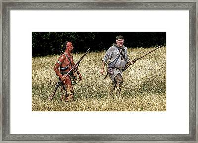 Morning Scout Looking For Trouble Framed Print
