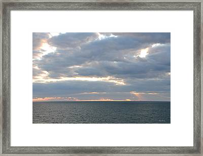 Morning Seascape  Framed Print by Bill Perry