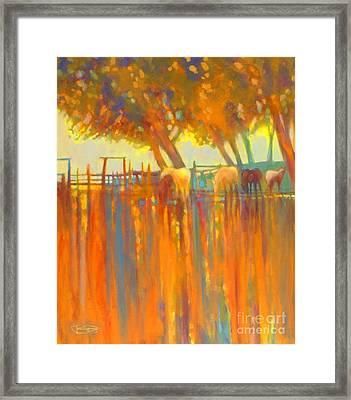 Morning Shadows Framed Print by Kip Decker