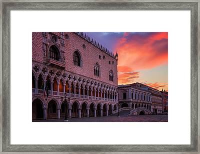 Morning Skies Over Venice Framed Print