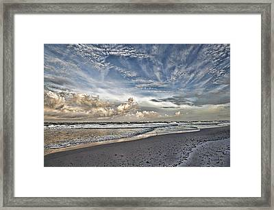 Morning Sky At The Beach Framed Print