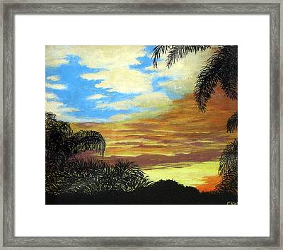 Morning Sky Framed Print by Frederic Kohli