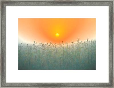 Morning Sky On The Farm Framed Print by Dan Sproul