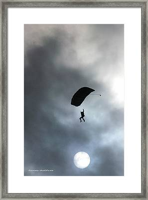 Framed Print featuring the photograph Morning Skydive by Tannis  Baldwin