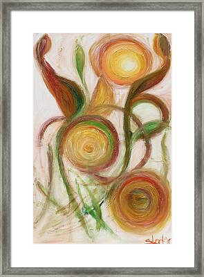 Framed Print featuring the painting Morning by Sladjana Lazarevic