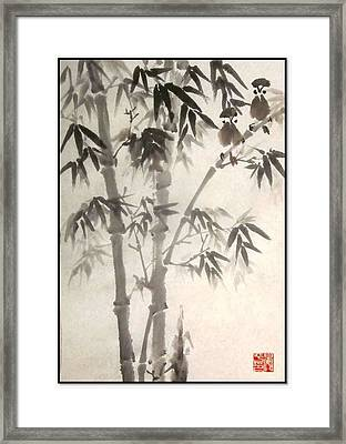 Framed Print featuring the painting Morning Song by Ping Yan