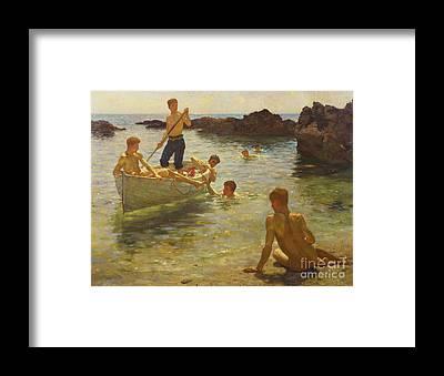 Paddle Boat Framed Prints