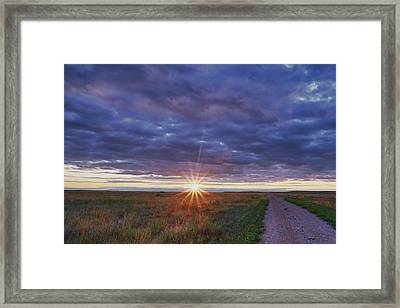 Framed Print featuring the photograph Morning Starburst by Monte Stevens