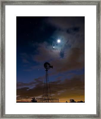 Morning Stars Framed Print