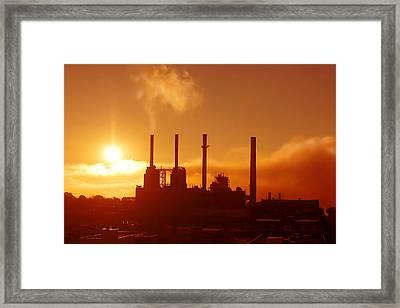 Morning Steam Framed Print by Todd Klassy