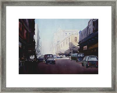Morning Street  Framed Print by Samiran Sarkar