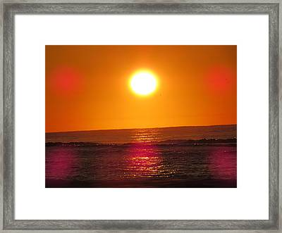 Morning Sun Break Framed Print