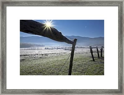 Framed Print featuring the photograph Morning Sun by Ken Barrett