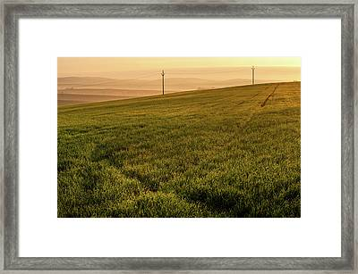 Framed Print featuring the photograph Morning Sun. Moravian Tuscany by Jenny Rainbow