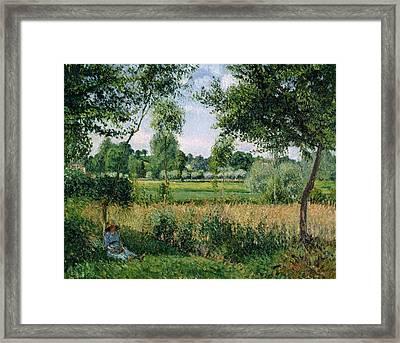 Morning Sunlight Effect, Eragny Framed Print