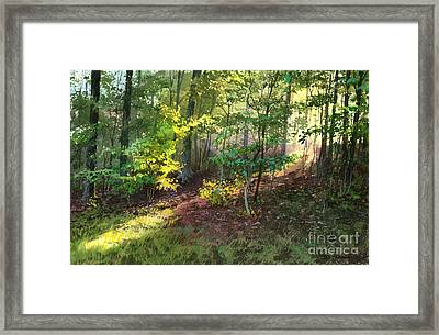 Framed Print featuring the painting Morning Sunlight by Sergey Zhiboedov