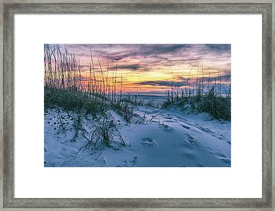 Framed Print featuring the photograph Morning Sunrise At The Beach by John McGraw