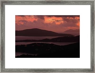 Framed Print featuring the photograph Morning Sunrise From St. Thomas In The U.s. Virgin Islands by Jetson Nguyen