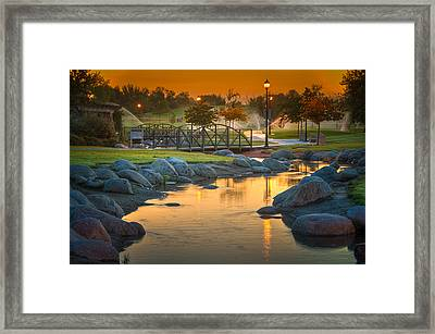 Morning Sunrise In The Park Framed Print
