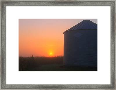 Morning Sunrise On The Farm Framed Print