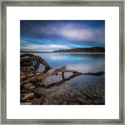 Morning Sunrise On The Lake Framed Print