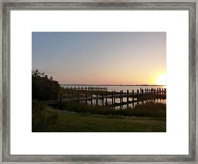 Morning Sunrise Over Assateaque Island Framed Print by Donald C Morgan