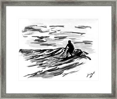 Morning Surf Framed Print