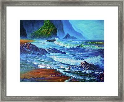 Morning Surf Oregon Framed Print by Joseph   Ruff