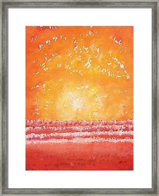 Morning Surf Original Painting Framed Print by Sol Luckman