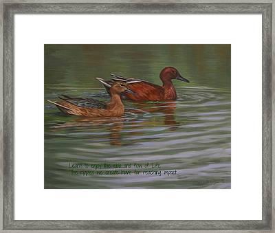 Morning Swim Framed Print