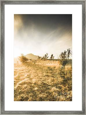 Morning Tasmanian Fog Landscape Framed Print by Jorgo Photography - Wall Art Gallery