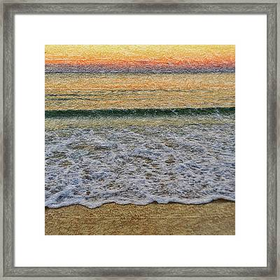 Morning Textures Framed Print