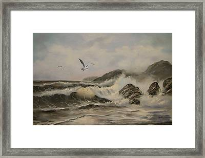 Framed Print featuring the painting Morning Thunder by Joni McPherson