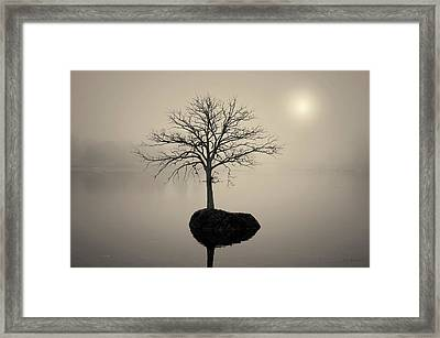 Morning Tranquility Toned Framed Print