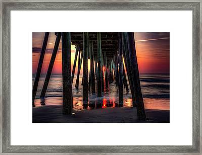 Morning Under The Pier Framed Print