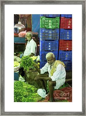 Morning Vegetables Market In India Framed Print