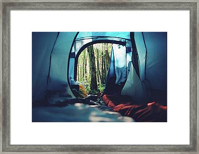 Morning View From Tent Framed Print
