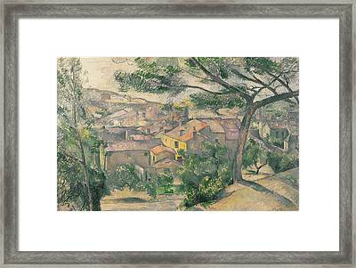 Morning View Of L Estaque Against The Sunlight 1882 - 1883 Framed Print by Paul Cezanne