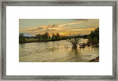Morning View Of The Payette River Framed Print by Robert Bales