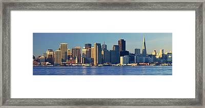 Morning View Of The Transamerica Framed Print