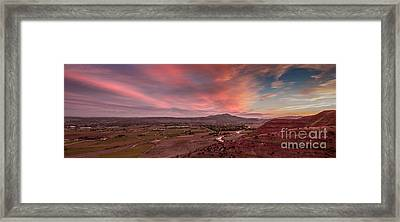 Morning View Over Emmett Valley Framed Print by Robert Bales