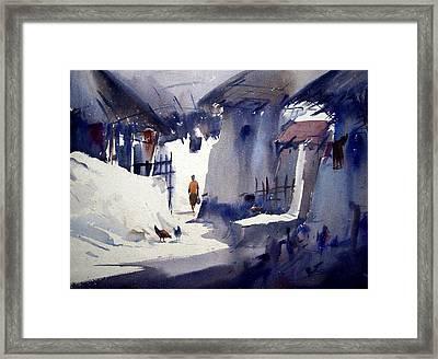 Morning Village Light Framed Print