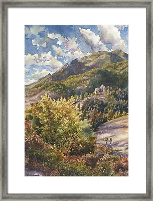 Morning Walk At Mount Sanitas Framed Print by Anne Gifford