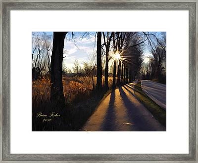 Morning Walk Framed Print by Brian Fisher