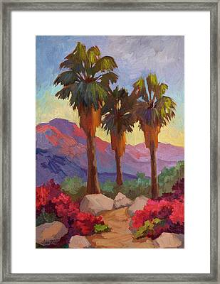Morning Walk Framed Print by Diane McClary
