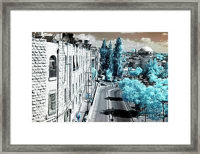 Morning Walk In Jerusalem Framed Print