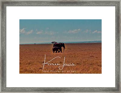 Framed Print featuring the photograph Morning Walk by Karen Lewis