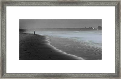 Framed Print featuring the photograph Morning Walk by Ron Dubin